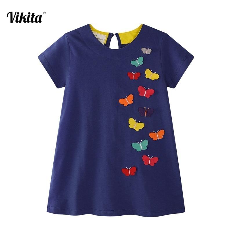 VIKITA lányos ruhák 2018 Új márka hercegnő lány ruházat európai és amerikai stílusú aranyos Vestidos baba lányoknak JM6808
