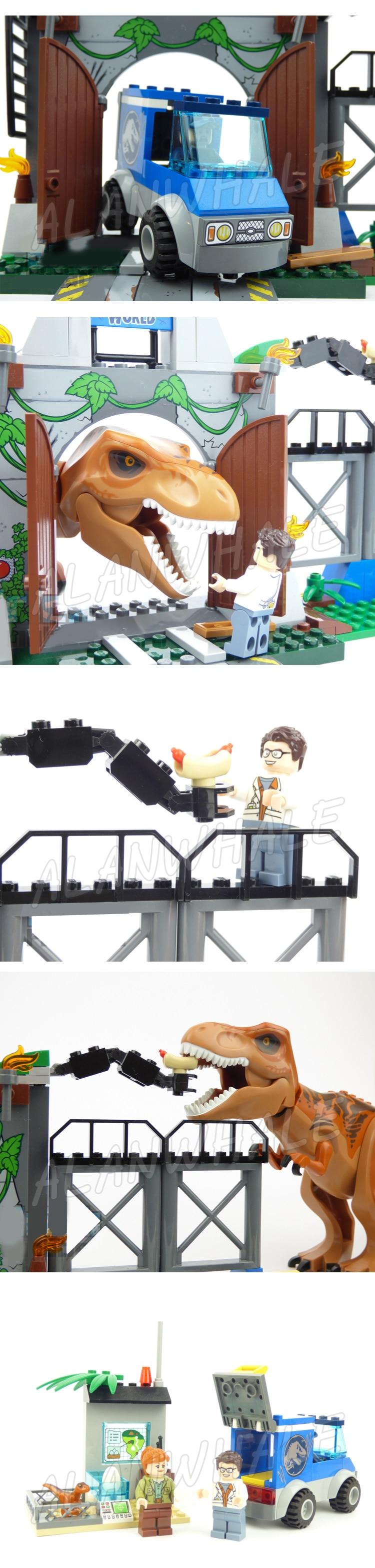 breakout dinossauro ciência estação figura blocos de