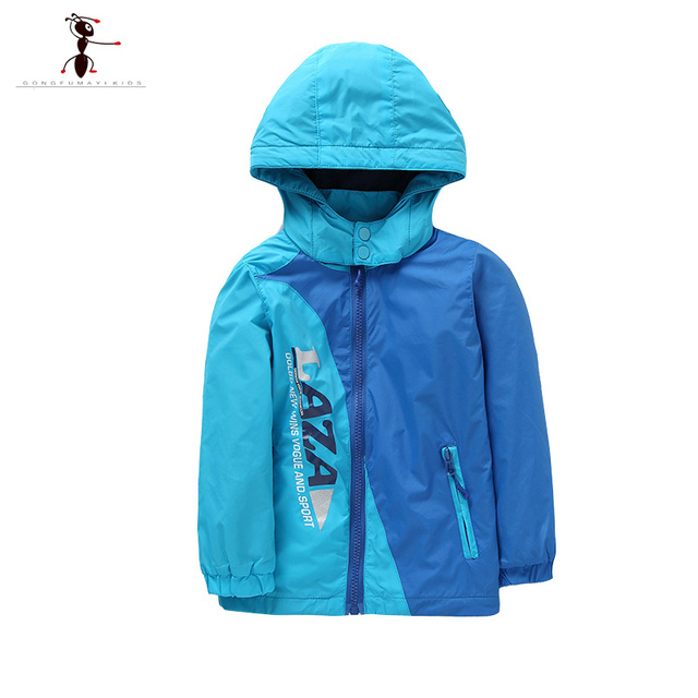 Boys Green Blue Hooded Students Spring Autumn Trench Manteau Fille Clothing New Outdoor Kurtka Zimowa 2421