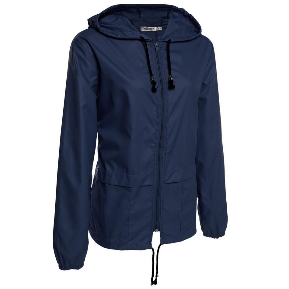 Meaneor autumn coat Women Hooded Jacket 2017 winter thin long sleeve Waterproof casual outcoat Outwear Plus size S,M,L,XL,XXL 1