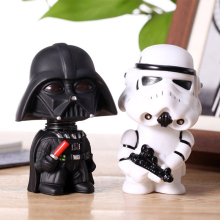 11cm Star Wars Figur Action Darth Vader Stormtrooper Modell Toy Wacky Wobbler Bobble Head Hodet kan klippes