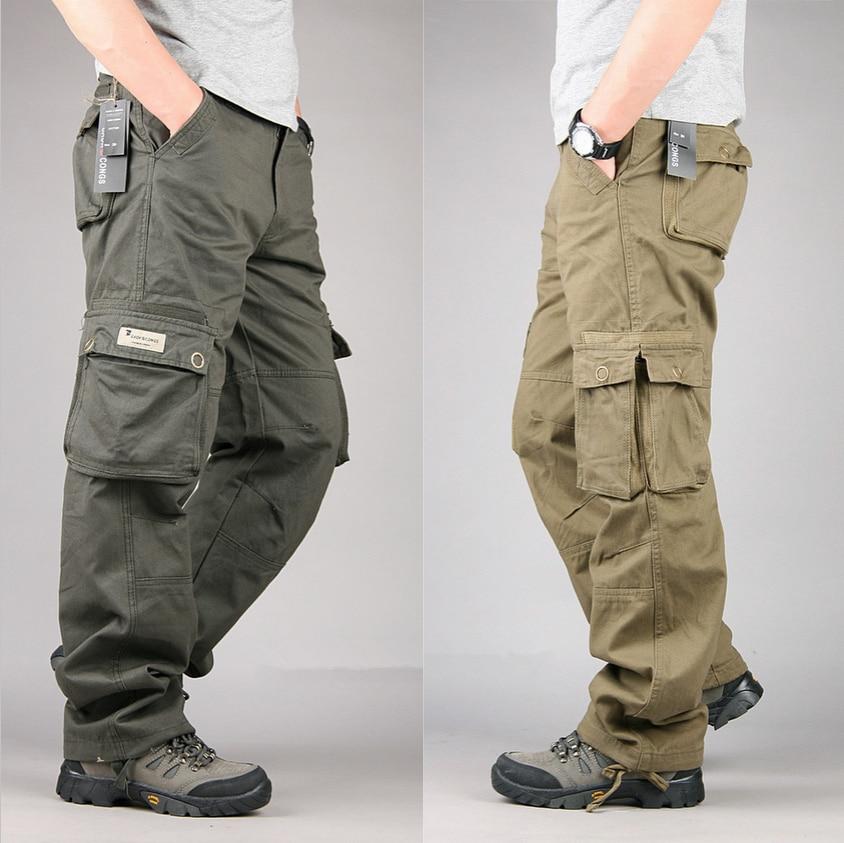 Size 30 40 Mens Cheap Cargo Pants Casual Mens Pants Multi ...