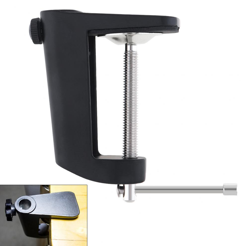 Aluminum Alloy Cantilever Bracket Clamp With 12MM Hole Diameter And Non-slip Mat For Mic Stand And Other Audio Accessories