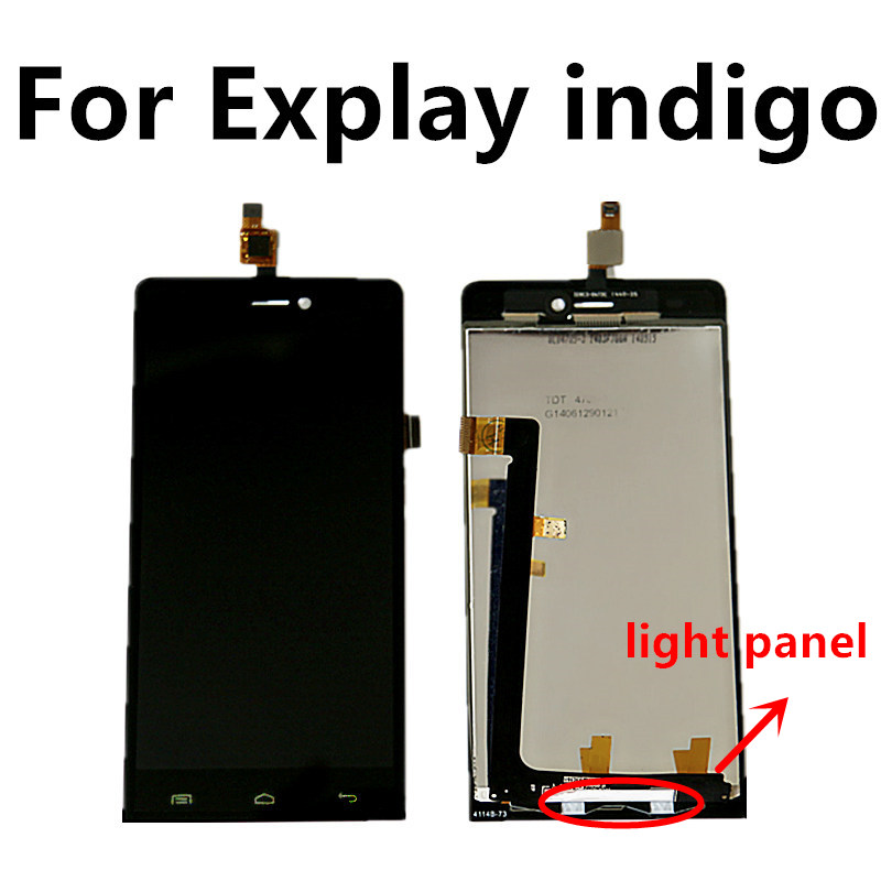 BLACK For Explay indigo LCD screen touch screen inside and outside the single explay для смартфона explay indigo