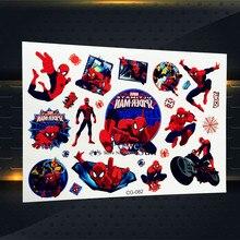 25 Style Children Cartoon Spiderman Tattoo Stickers Kids Tatoo PCG-082 Superheros Spider Man Tattoo Marvel Waterproof Body Arm