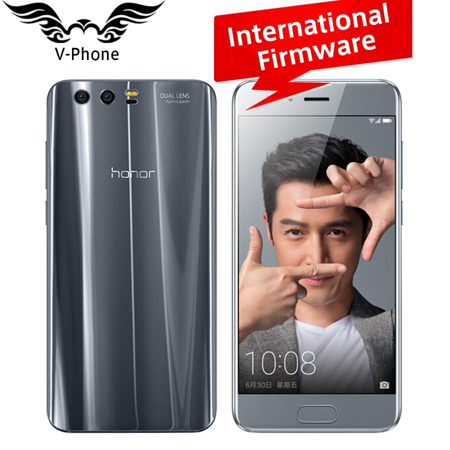 International Firmware Huawei Honor 9 4G LTE Mobile Phone 5.15' Kirin 960 Octa Core 6GB RAM 64GB ROM Dual Rear 1920*1080P NFC