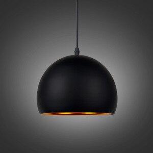 Image 4 - Moderne Einfache Ball E27 Anhänger Lichter Cafe Restaurant Beleuchtung Anhänger Lampe Leuchten Schmücken Lampe Droplight