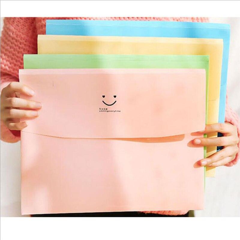 1PC Portable Traveler's File Package Desktop Storage File Bag Candy Color Storage Bag Office Data Sorting Bag Student Stationery