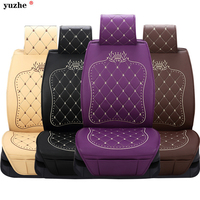 Yuzhe Universal Leather Car Seat Covers Cayenne Black Car Seat Covers Cushion Interior Accessories For Volkswagen Suzuki vw kia