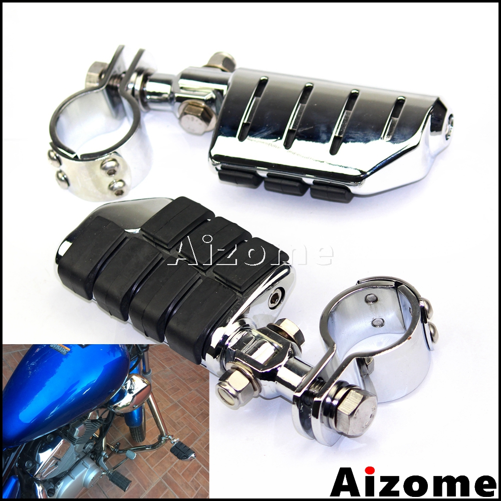 Motorcycle Engine Guards Foot Pegs w/ Clevis Mount 1 1/4 Clamps Foot Pegs For Harley Honda Yamaha Suzuki Footrests 32mm Clamp