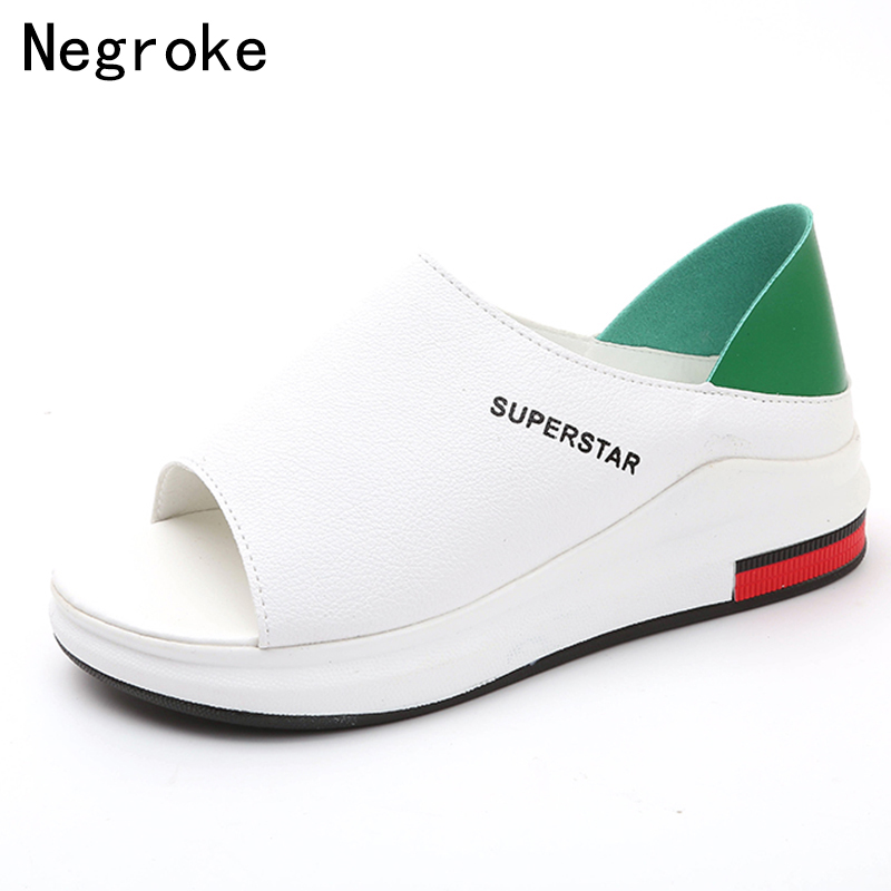 2019 New Fashion Women Sandals Summer Platform Sandal Shoes Woman Peep Toe Leather Beach Flat Casual Sandalias Mujer Plus Size(China)
