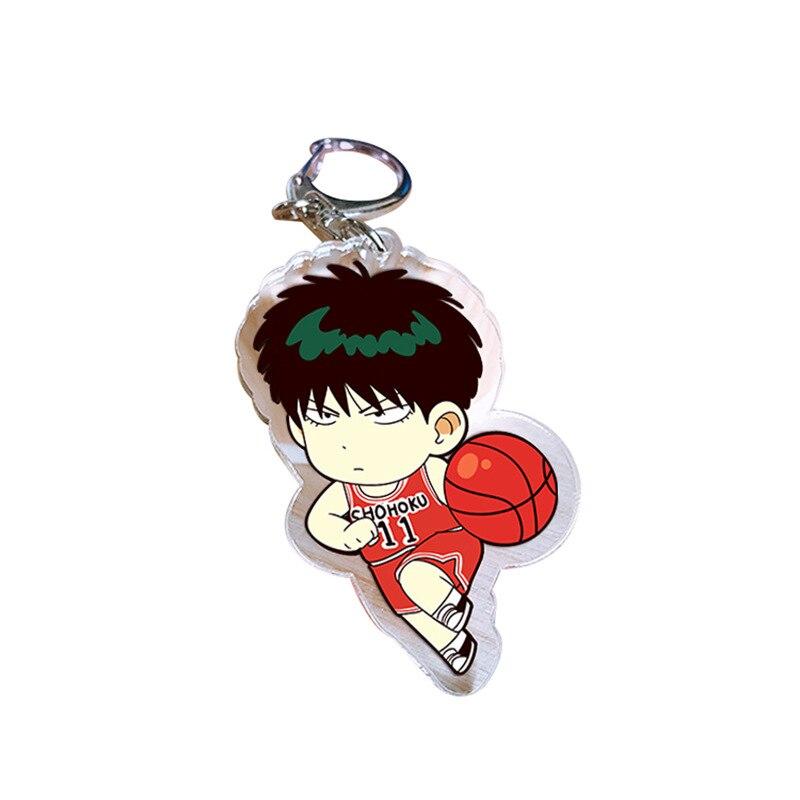 Japan Anime SLAM DUNK Rukawa Kaede Acrylic Key Ring Pendant Keychain Gift