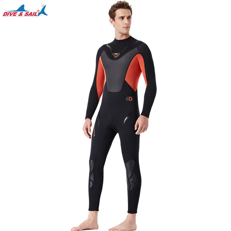 Men 3MM Scuba One Piece Full Body Jumpsuit Diving BodySuit Long Sleeve  Snorkeling Spearfishing Swim Surfing WetSuits Beach Wear f2e29fad2