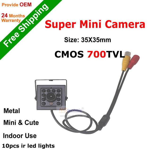 CCTV Camera 960H CMOS 700TVL Super Mini CCTV Surveillance 3.6/6mm Lens 10pcs ir leds security system COMS Sensor Mini Camera