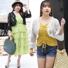 Summer mesh shawl women fashion Ruffle Knit cardigan ladies lace solid color tops high quality plus size elegant female blouses недорго, оригинальная цена