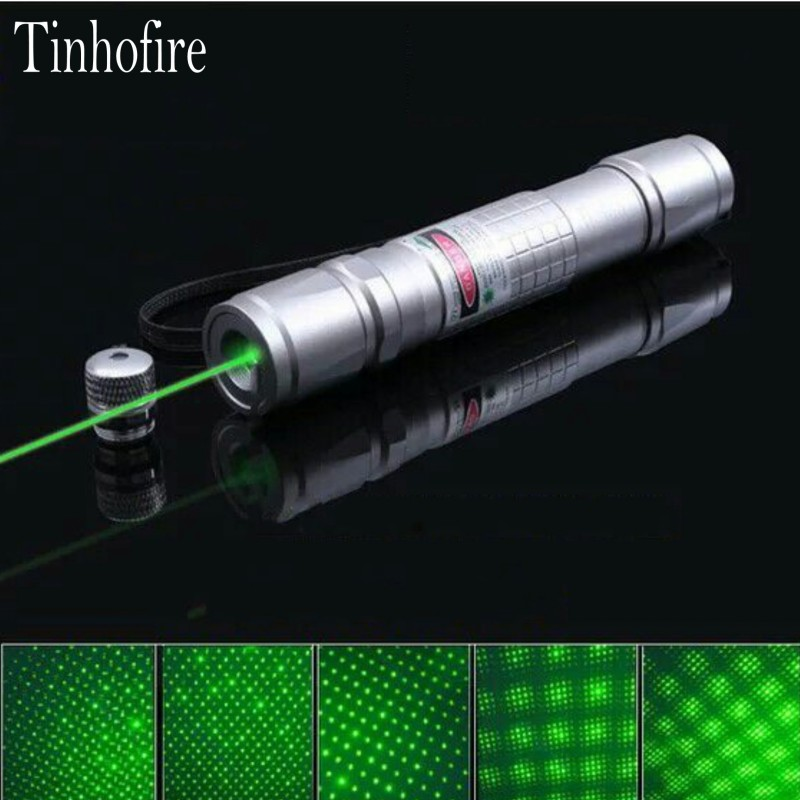 Tinhofire Professional 5mw 532nm Laser Green Pointer Waterproof High Power Lazer Laser Pointer 18650 Battery Flashlight Laser
