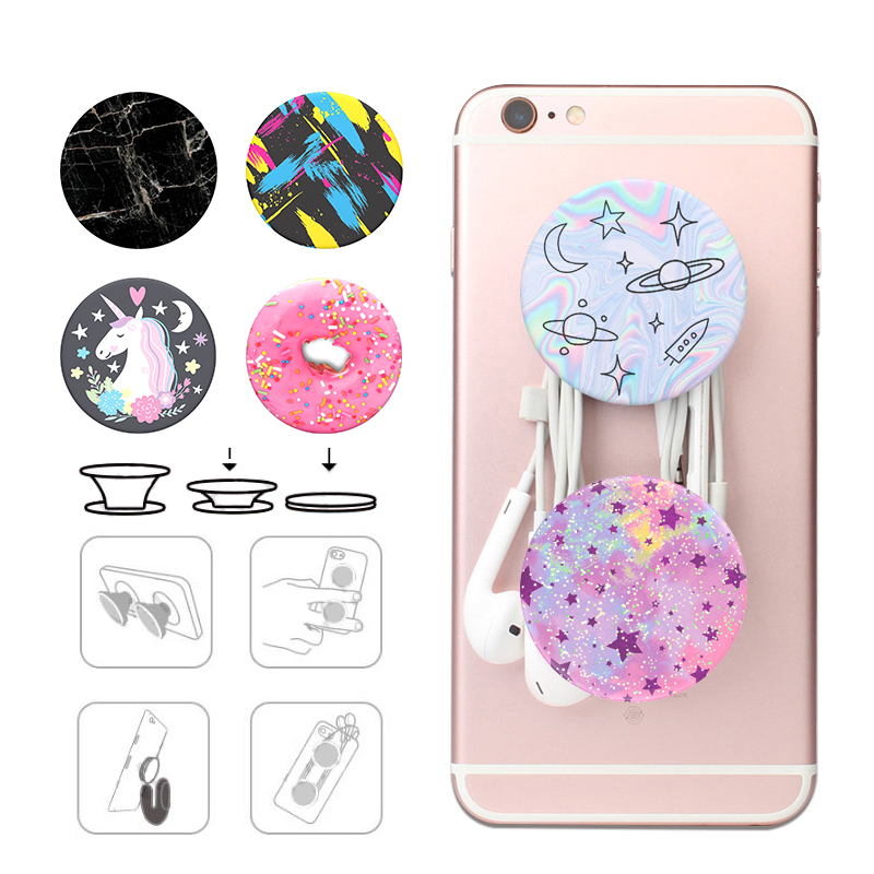 Popsoket Marble Phone Holder Color Pops Pocket Socket Mobile Phone Flexible Expanding Stand Grip Popsocet Finger Ring Pipsocket