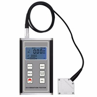 Digital Vibration Meter 3 Axis Piezoelectric Accelerometer Sensor Measures Periodic Motion Displacement Velocity Acceleration
