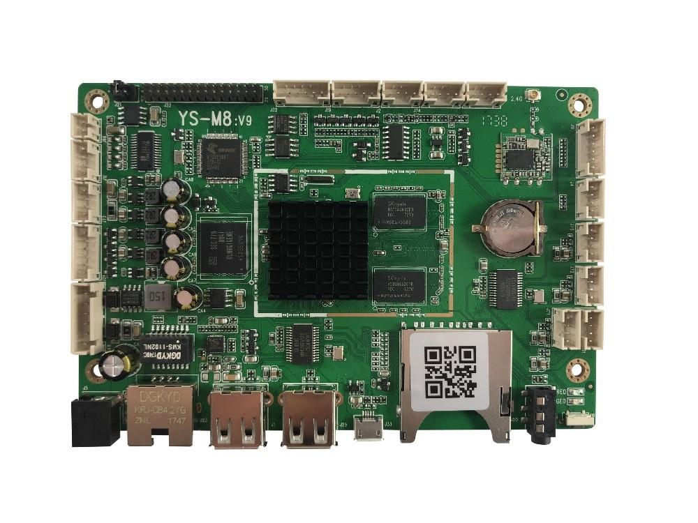 M8V9 LCD panneau publicitaire Support RockchipRK3128 Cortex-A7, ouad-core, 1.2 GHz, Android 4.4.4, RJ45 Ethernet, 2.4 GHz WIFI