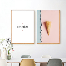 цены на Nordic Pink Seascapes Posters And Prints Abstract Sea Wall Art Canvas Painting Home Decor Wall Pictures For Living Room Unframed  в интернет-магазинах