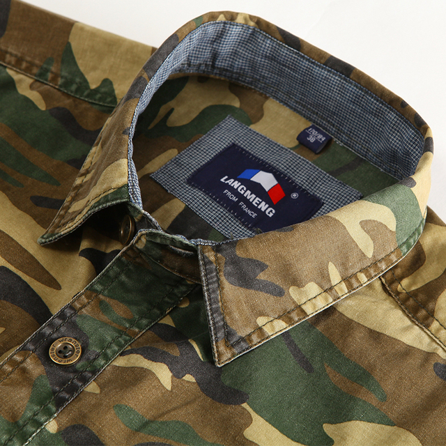 100% Cotton Camouflage Breathable Army Combat casual Shirts  3