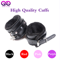 BDSM Bondage Handcuffs Leather handcuffs for sex handcuffs stainless steel Adult Games Slave Flirting sex toys for couples black