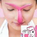 Plantillas de cejas 2015 Moda Eyeliner Maquillaje Forma DIY Belleza de Cejas Plantillas Plantilla Stencil Maquillaje Herramientas H15
