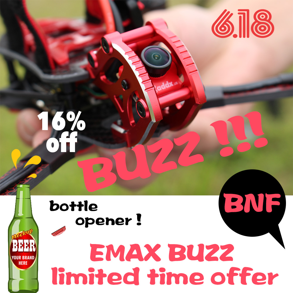Official EMAX BUZZ Freestyle Racing Drone BNF 1700kv /2400kv Motor With FrSky XM+Receiver Quadcopte FPV Camera For Rc Airplane image