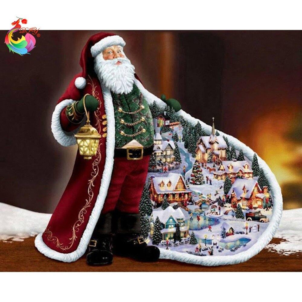 d29b0a36fe39 Новый год дед рождественских украшения сделай сам алмаз живопись полный 5D  алмаз вышивка крестом Алмазные Фотографии Стразы