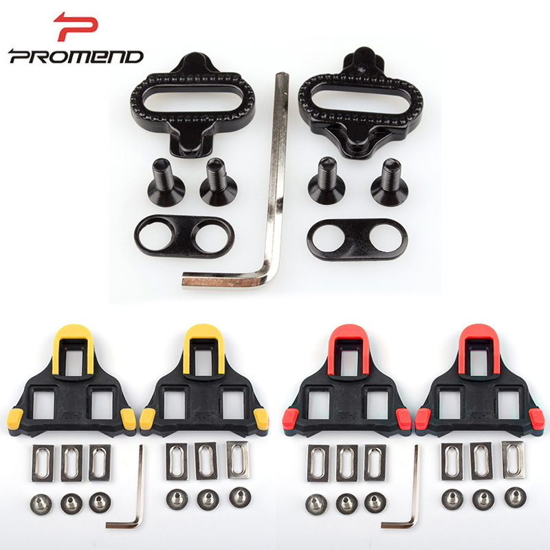 PROMEND Bicycle Self locking Cycling Pedal Cleats Plastic Road Bike Shoes Cleats Adjustable Plate Splint Road SPD SL System in Bicycle Pedal from Sports Entertainment