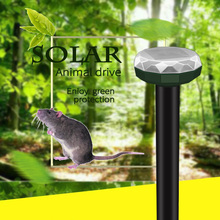 Solar Power Ultrasonic Gopher Eco-Friendly Mole Snake Mouse Reject Repeller Control for Garden Yard