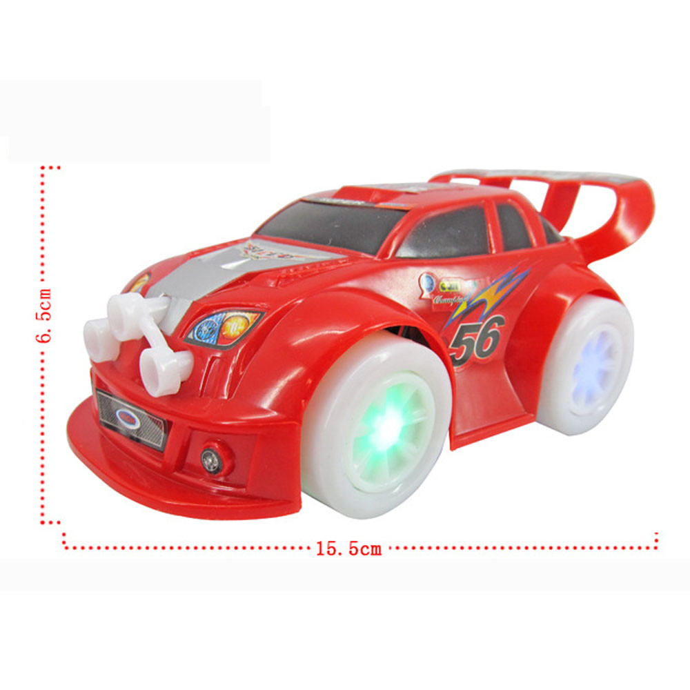 Baby Kids Clockwork Funny Toy Cartoon Puppy LED Car Educational Toys Flashing Lights Boys Birthday Gift Kids Toy Play With Track