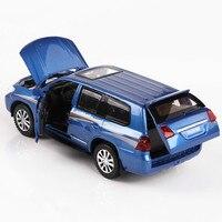 For Toyota Land Cruiser 1:32 Alloy Car Model Diecast Auto Speelgoed 4 Open Door Offroad SUV Model Car Children's Boy Girl Toys