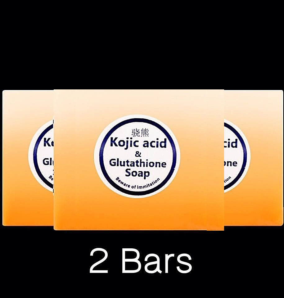 Glutathione + Kojic Acid Skin Bleaching Whitening Lightening Brightening Soap Free Ship
