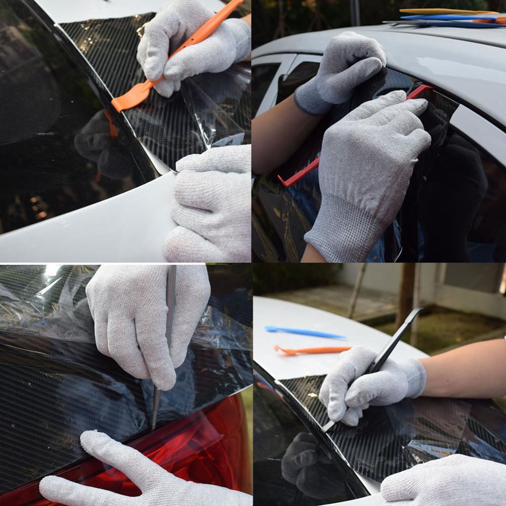 Feuille de carbone Film coin bord grattoir magnétique vinyle Wrap raclette avec aimant voiture autocollant décalque Cutter couteau Auto teinte outil K93 - 6