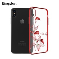 KINGXBAR For Apple IPhone X Case For IPhone 10 Authorized Crystal Plating PC Hard Phone Cover