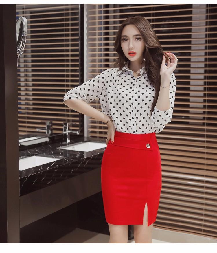 TingYiLi Red Black Short Skirts Womens Plus Size 2XL 3XL 4XL 5XL High Waist Pencil  Skirt Office Lady Sexy Slim Fit Tight Skirt e9f28dff09db