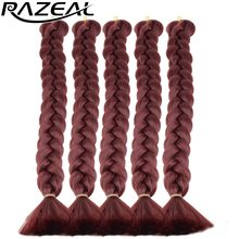 Synthetic Hair Red Braids