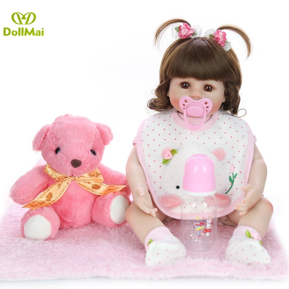 Boneca Reborn 19 pouces 48 cm Silicone vinyle doux bébé poupées bebe Reborn Realista mode poupée nouveau-né réaliste cadeau jouets