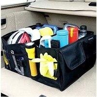 Black Oxford Cloth Auto Trunk Storage Bag Foldable Car Finishing Box Household Gloves Sack Portable Sundries