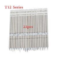 23pcs T12 K T12 B T12 BC2 T12 D24 Solder Iron Tips T12 Series For Hakko