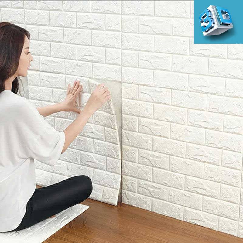 Hot Sale PE Foam 3D Wallpaper DIY Wall Stickers Wall Decor Embossed Brick Stone Wallpaper Room House 70 X 38 cm Poster