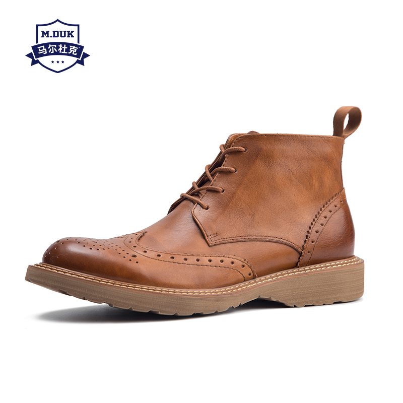 cowhide new winter Martin boots male high top shoes men Genuine Leather bullock steel toe shoes chelsea boots combat boots