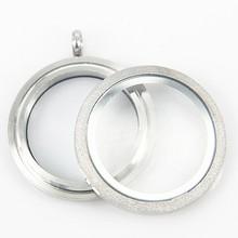 10 шт., блестящий кулон медальон из нержавеющей стали
