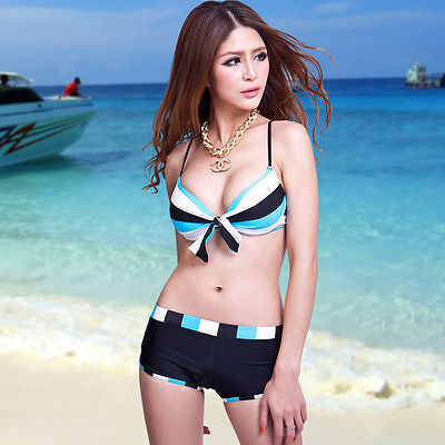 Foclassy Sexy Girls Push Up Underwired Boy Leg Bikini Free Shipping High Quality Swimsuit Swimwear