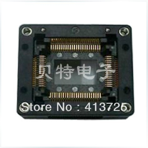 Imports of IC test seat QFP80 programming conversion adapter burn OTQ-80-0.8-03 qfp40 ic test conversion chip ic programming block qfp40