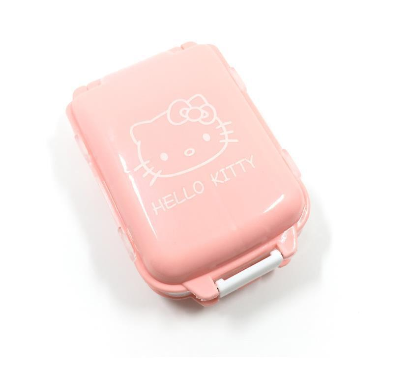 Милый hello kitty коробка для таблеток Органайзер Медицина Витамин хранения путешествия yey-S57