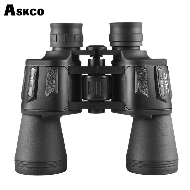 Askco 20X50 Powerful Binoculars LLL Night Vision Wide-angle Eyepiece Professional Binoculars Central Zoom Telescope No Infrared