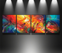 4 Pcs Set Abstract Oil Paintings On Canvas Handmade Frameless Canvas Painting Modern Wall Art Picture