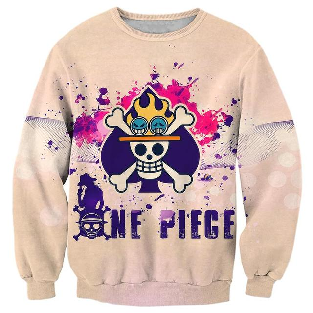 One Piece 3D Print Pullovers Sweat Shirts